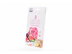 """3 vonné obálky """"růžový fík a zázvor"""" 10 x 19,5 cm"""