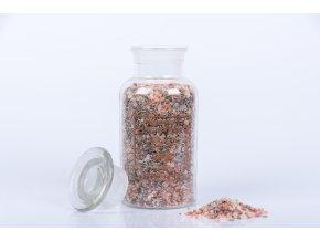 Koupelová sůl s lístky levandule ve skle