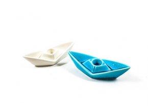 142370 porcelanovy lodni svicen 14 5x5 5xh 4cm ruzne barvy