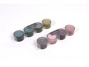 143408 4 vonne dozy na svicky pr ruzne barvy 5 5 x v 3 8 cm