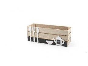 dřevěný box 27,5x9,5xh.10,5cm