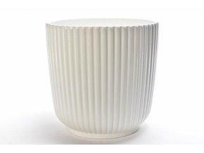 bílý keramický obal na květináč cm d 24,5 x v 24