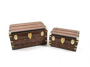 """červenec, sada / 2 kufry """"victoria"""" ze dřeva a PVC 48x29x26cm / 36x23x20cm"""