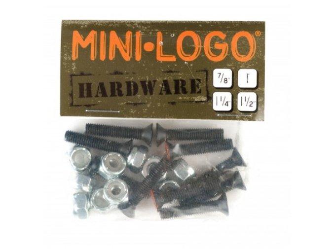 """Skate šroubky MINI LOGO rozměry: 7/8 - 2,24 cm; 1"""" - 2,54 cm; 1"""" 1/4 - 3,18 cm; 1"""" 1/2 - 3,84; 1"""" 3/4 - 4,4 cm křížový šroub"""