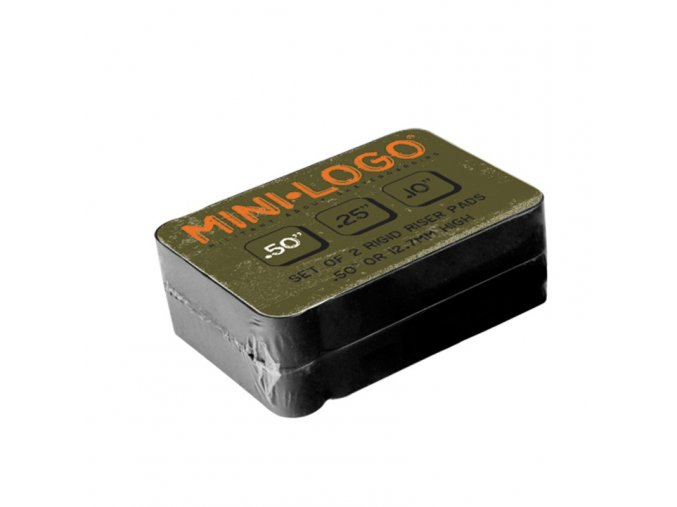 "skate Podložky Mini Logo rozměry: 0,10""-2.54mm; 0.25""-6.35mm; 0.50""- 10.27mm plast"