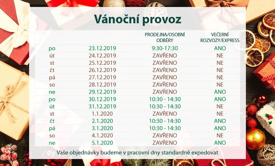 Vánoční provoz v super-granule.cz