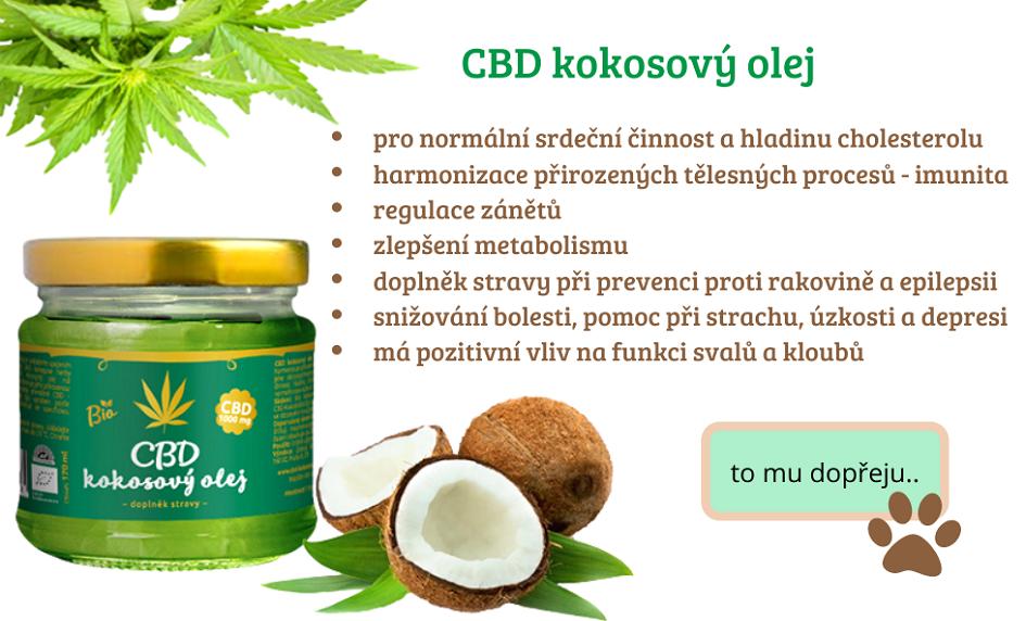 CBD kokosový olej pro zvířata