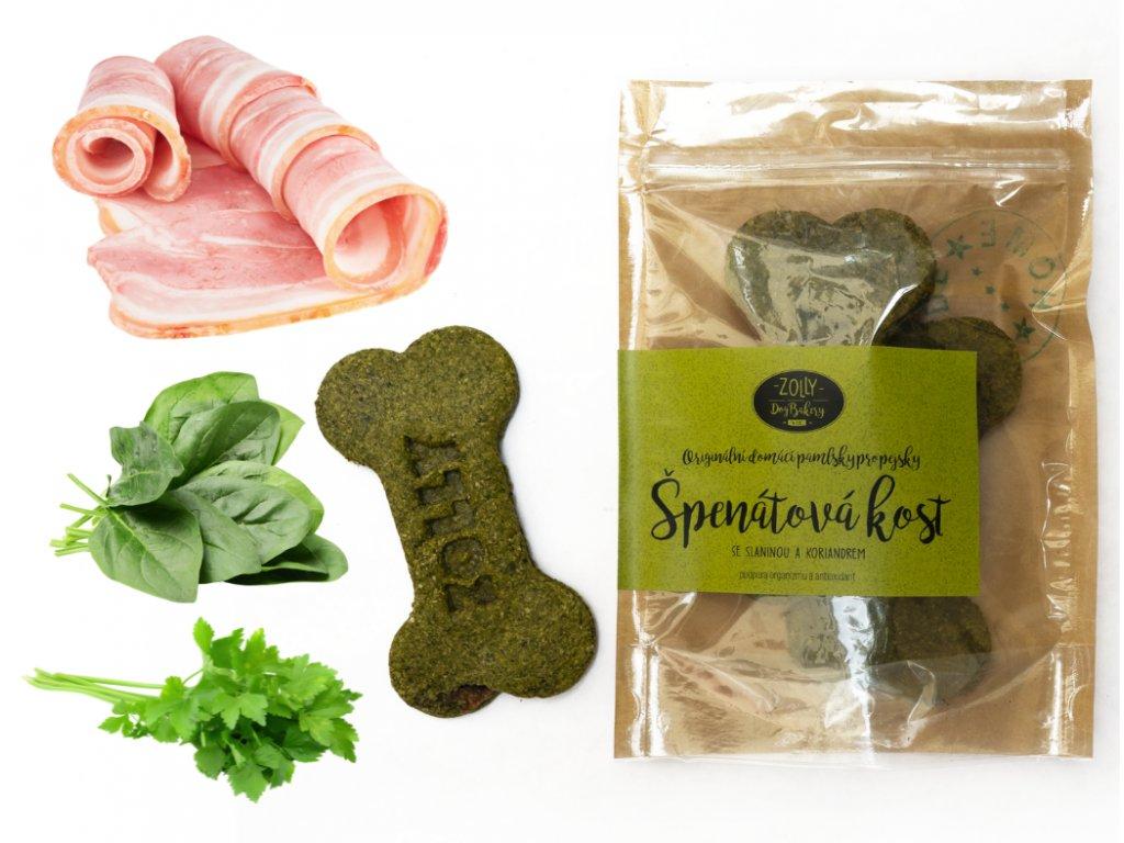 Špenátová KOST se slaninou 2 ks, 100 g