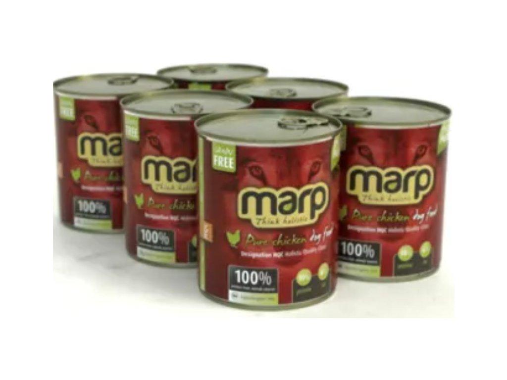 3282 1 marp pure chicken konzerva pro psy 6x800 g