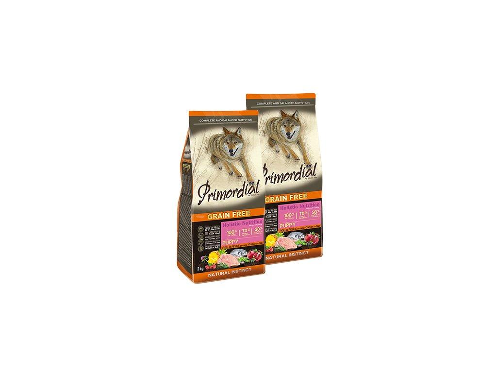 3693 1 primordial puppy chicken seafish dvojbaleni 2x12 kg