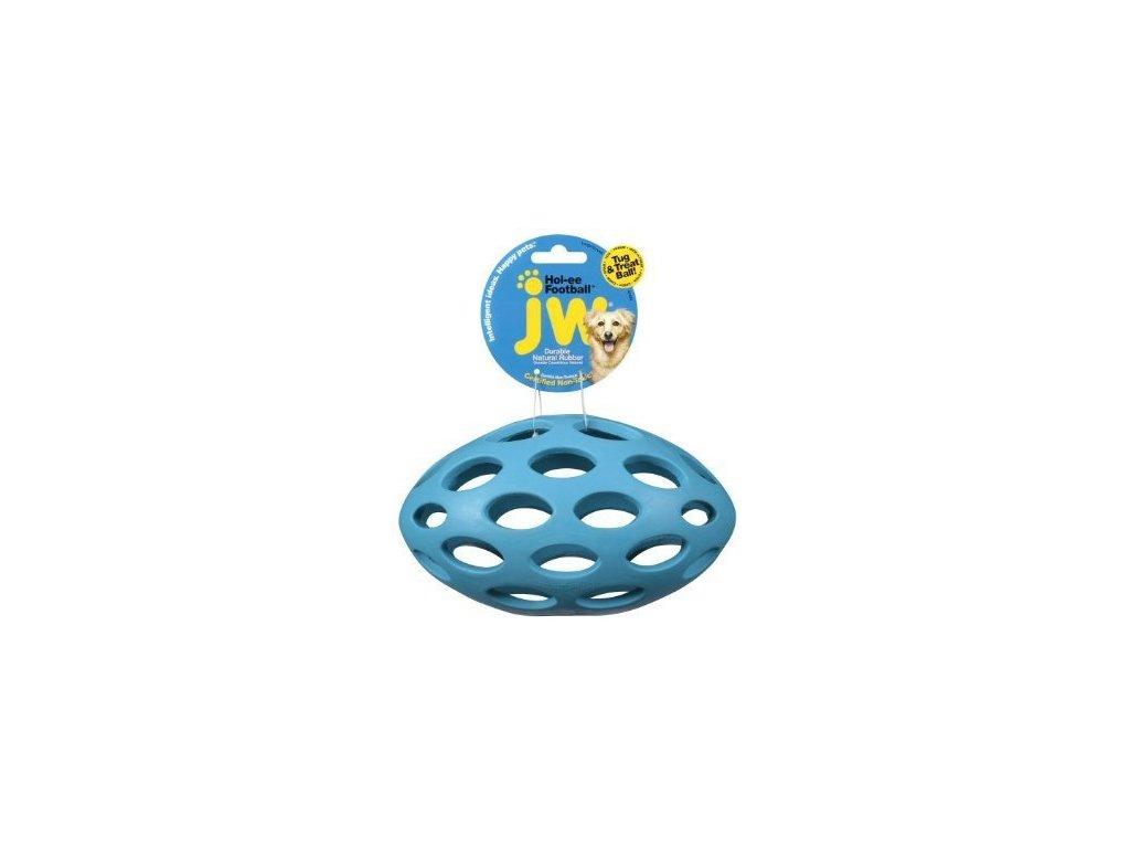 JW Hol-EE Děrovaný rugby míč MEDIUM 14 x 7,5 cm