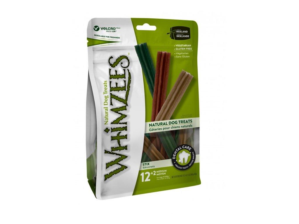 WHIMZEES Dental stix M 12+2 ks, 360+60 g