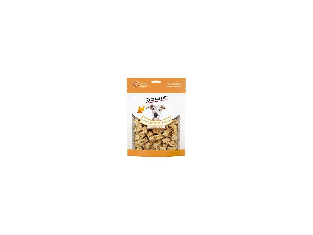 Dokas Kuřecí kostky s batáty a lněným semínkem 150 g