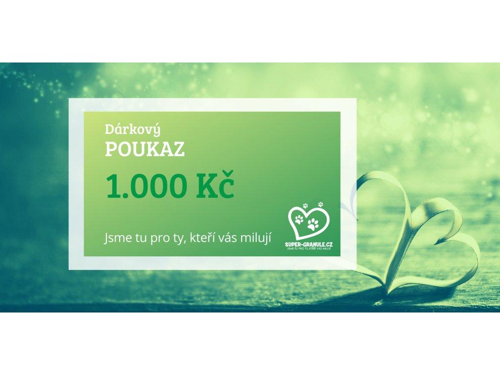Dárkový poukaz v hodnotě 1.000 Kč