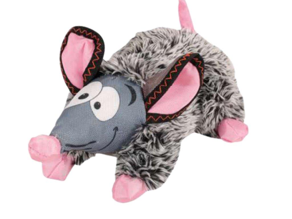 Myška GILDA plyšová šedá 24 cm