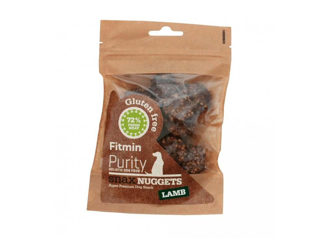 fitmin dog purity snax nuggets lamb 64 g h L