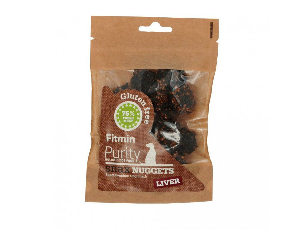 fitmin dog purity snax nuggets liver 64 g h L