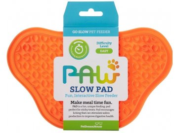 Lízací podložka Paw Lick Pad - oranžová