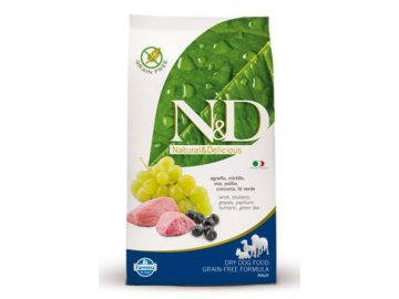 N&D GF DOG Adult Lamb & Blueberry 12 kg