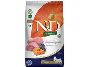 nd pumpkin dog adult mini lamb blueberry 7kg
