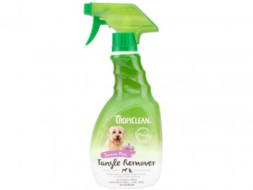 70115 tropiclean sweet pea tangle remover spray for dogs and cats