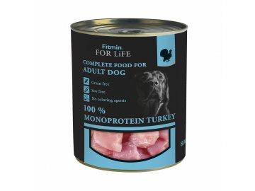 ffl dog tin turkey 800g h L