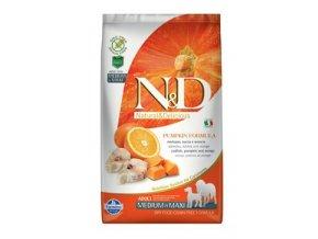 N&D GF Pumpkin DOG Adult M/L Codfish & Orange 2,5 kg