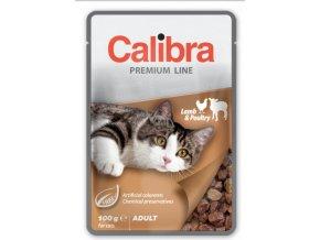 Calibra Cat kapsa jehněčí a drůbeží v omáčce 100 g