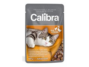 Calibra Cat kapsa kachní a kuřecí v omáčce 100 g