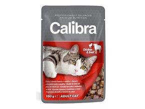 Calibra Cat kapsa kuřecí a hovězí v omáčce 100 g