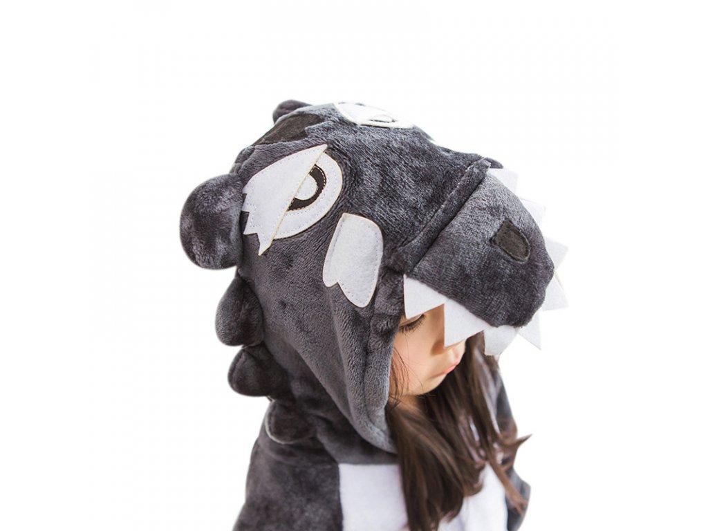 Winter Wolf Halloween Kigurumi Cosplay Costume For Kids Unisex Cartoon Pajamas Girls Onesie Cute Anime Pyjama (1)