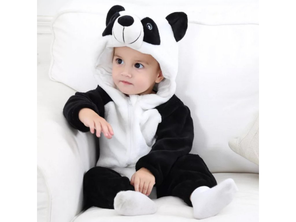 Overal pro miminko Panda (Velikost 13-18 měsíců)