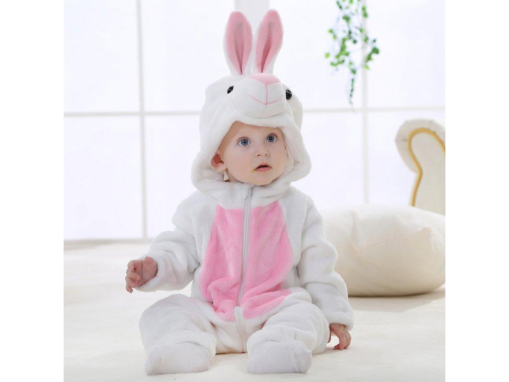 Overal pro miminko bílý Zajíček