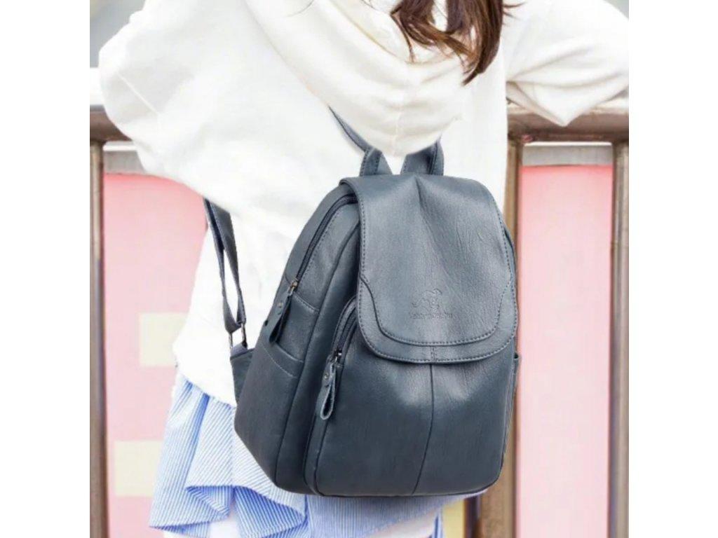 Luxusní dámský kožený batoh