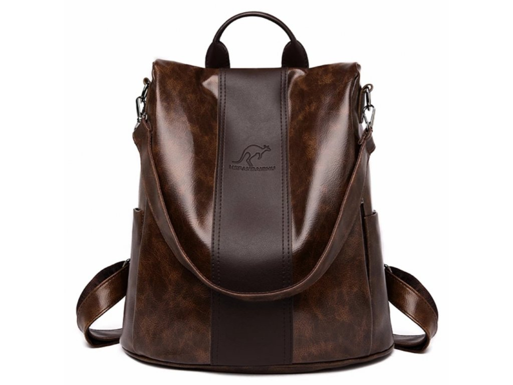 Dámský kožený luxusní batoh 2v1