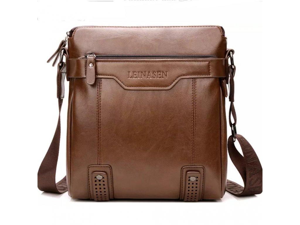 Pánská elegantní taška přes rameno (Barva Hnědá)