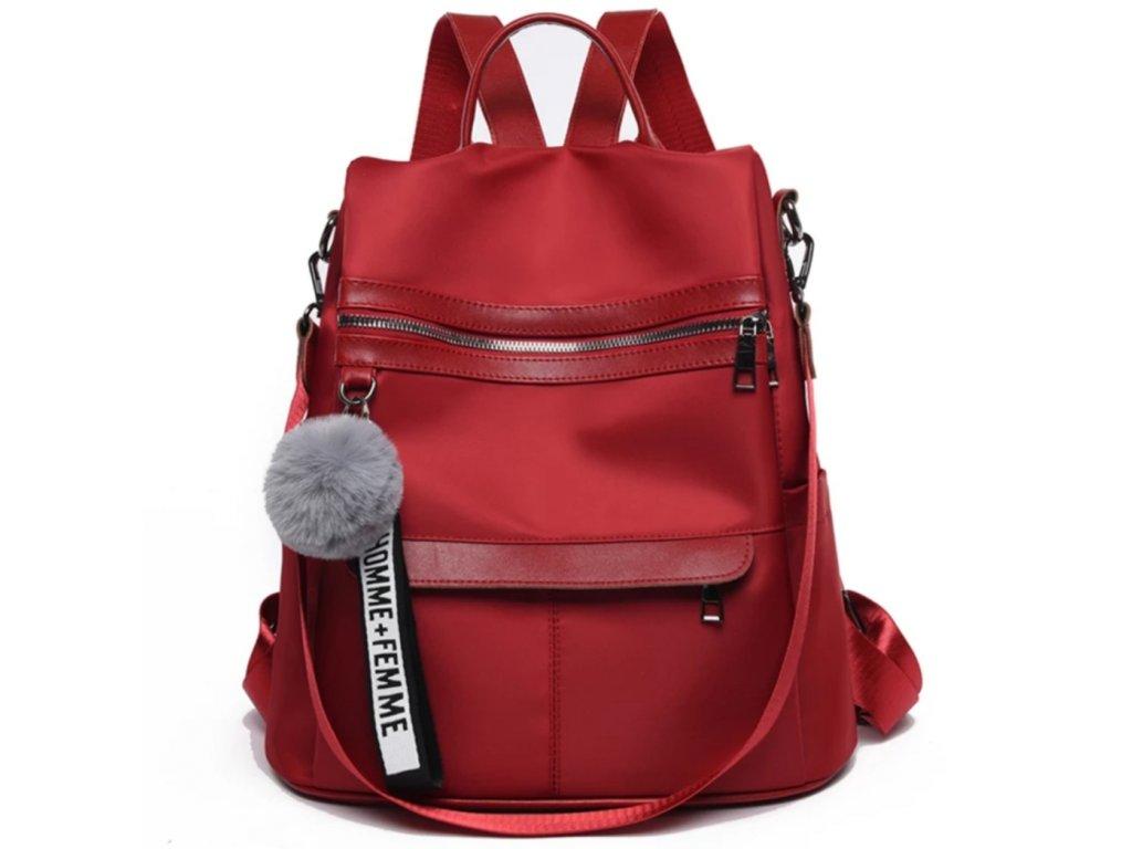 Originální kabelka-batoh 2v1 (Barva Červená)