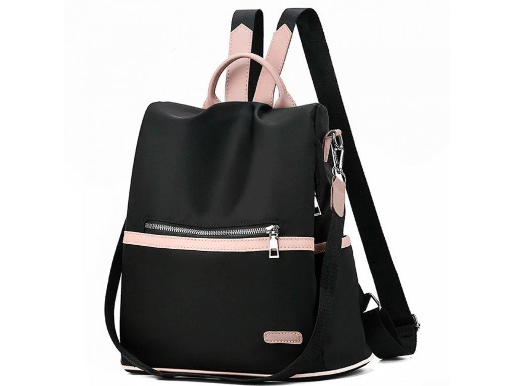 Dámský černo-ružovy batoh