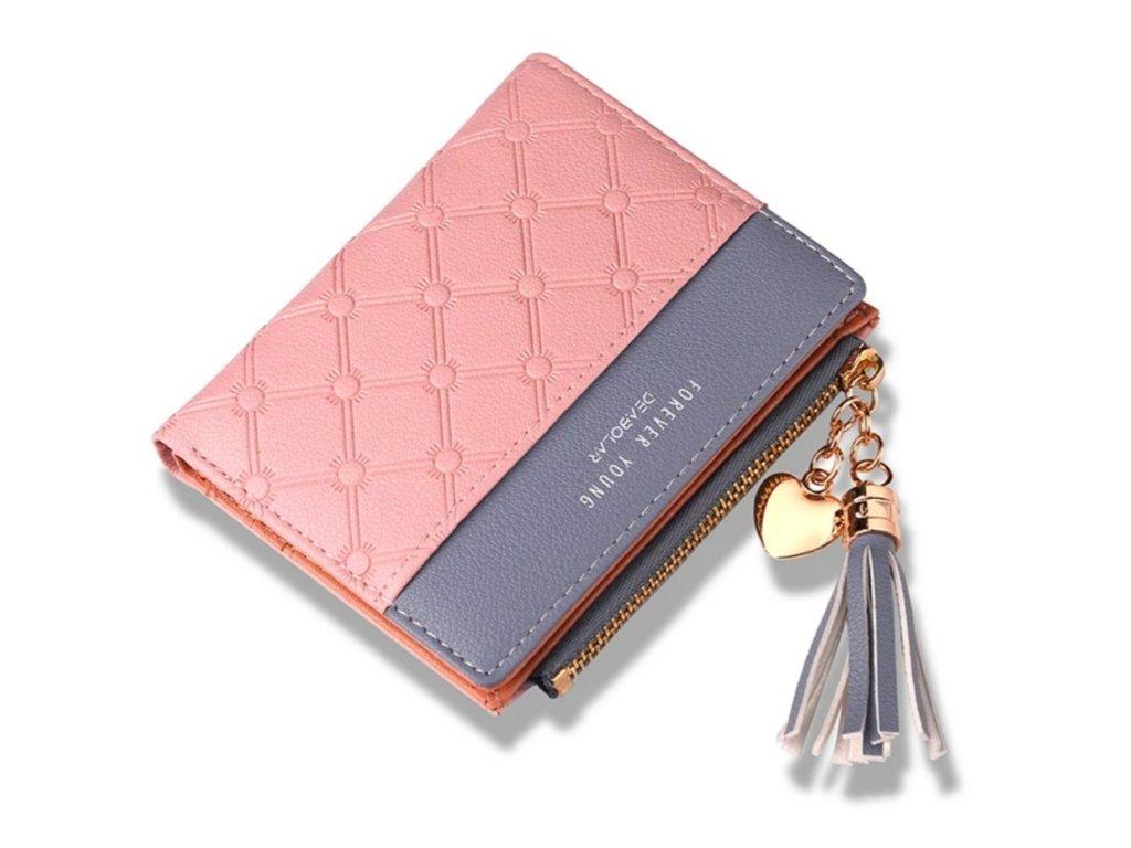 Malá dámská peněženka (Barva Vínová)