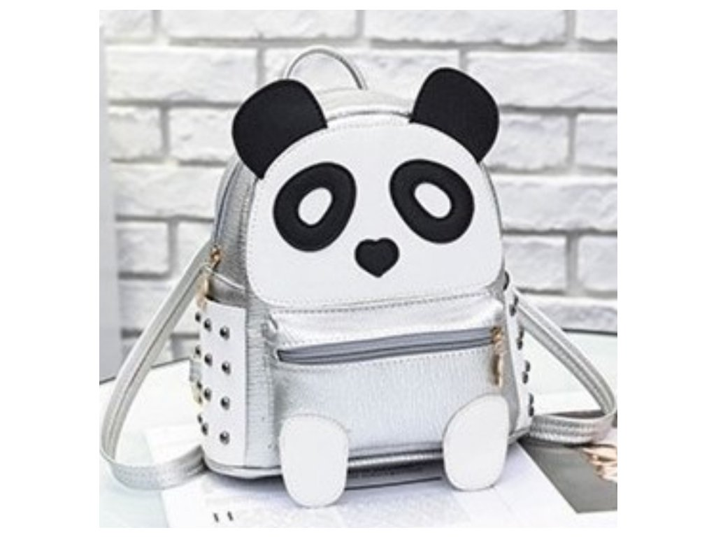 Malý batoh Panda (Barva Stříbrná)