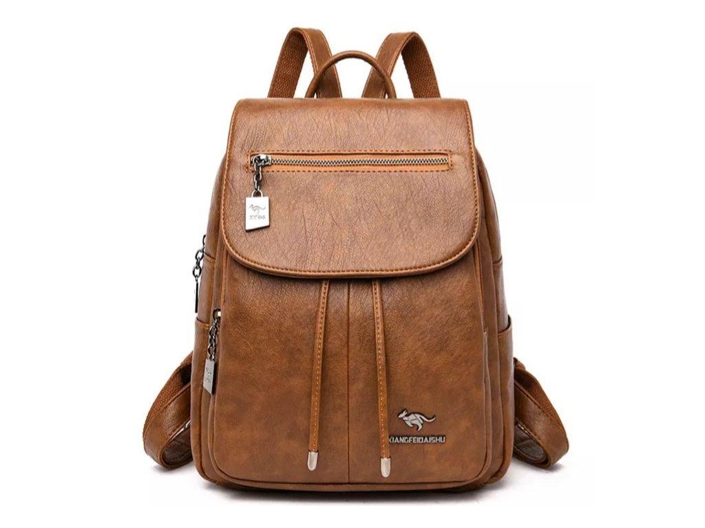 Dámský luxusní kožený batoh