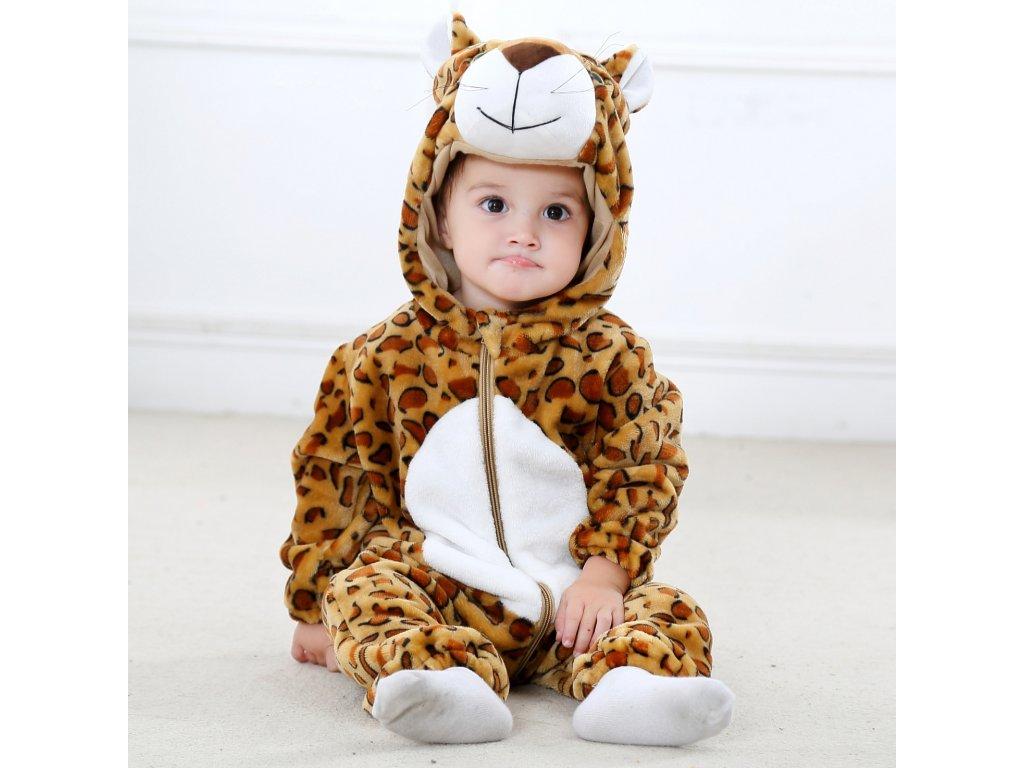 Overal pro miminko Leopard