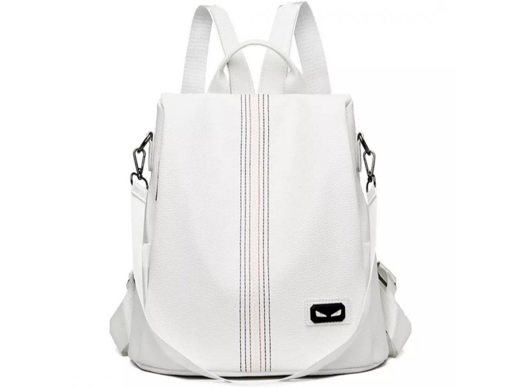 Dámský bílý trendy batoh 2v1