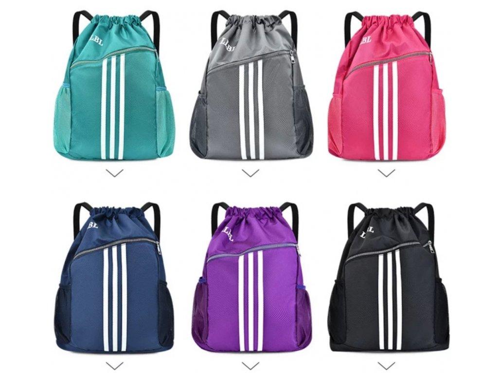 Velký sportovní batoh-vak unisex (Barva Zelená)