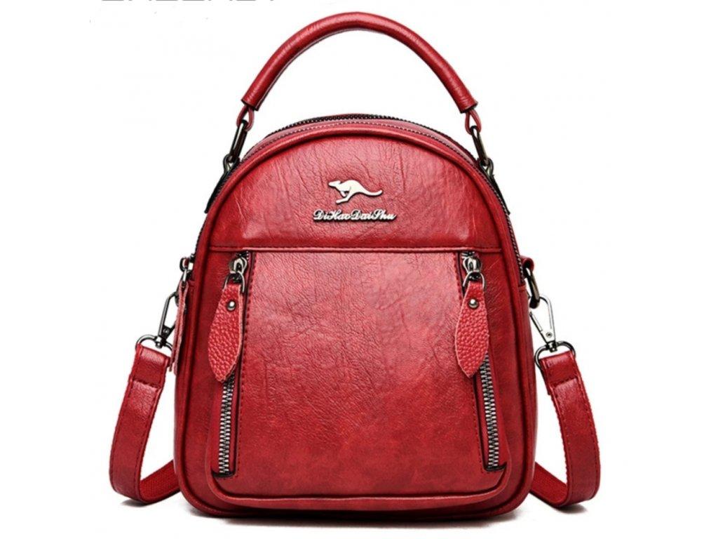 Dámský malý luxusní kožený batoh 2v1