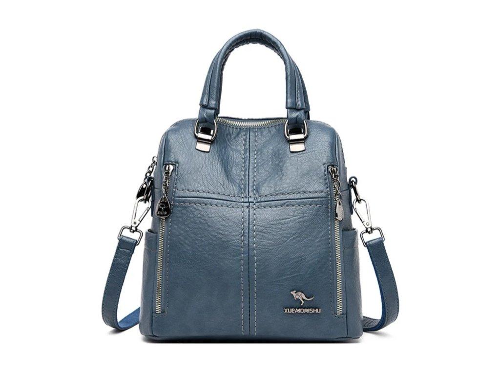 Dámský malý luxusní kožený batoh 2v1 Italy