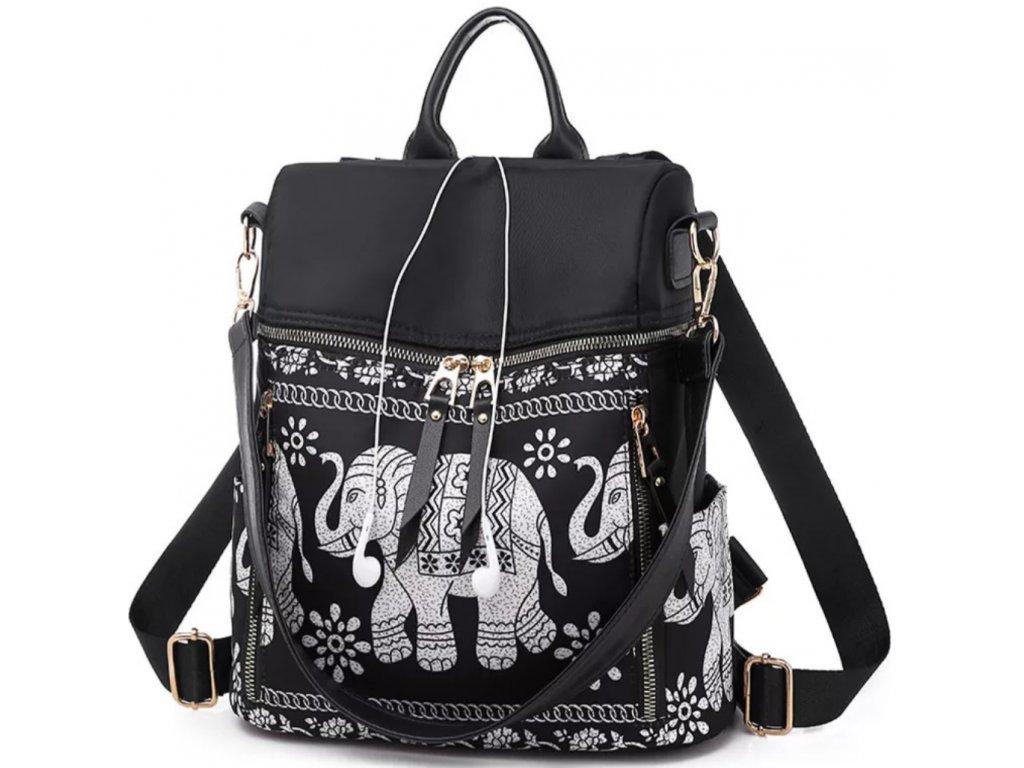 Dámský batoh se slonem