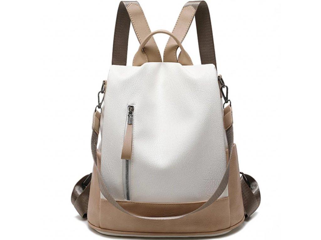 bílý dámský batoh