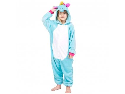 Dětský overal modrý Jednorožec velikost 98-140 (Velikost 140)