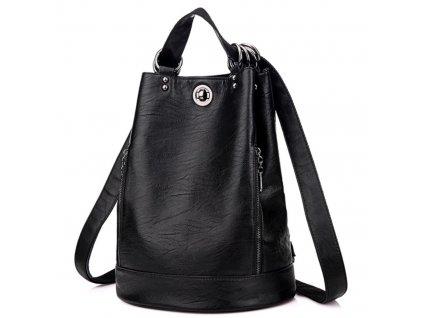 Luxusní dámský elegantní kožený batoh 2v1